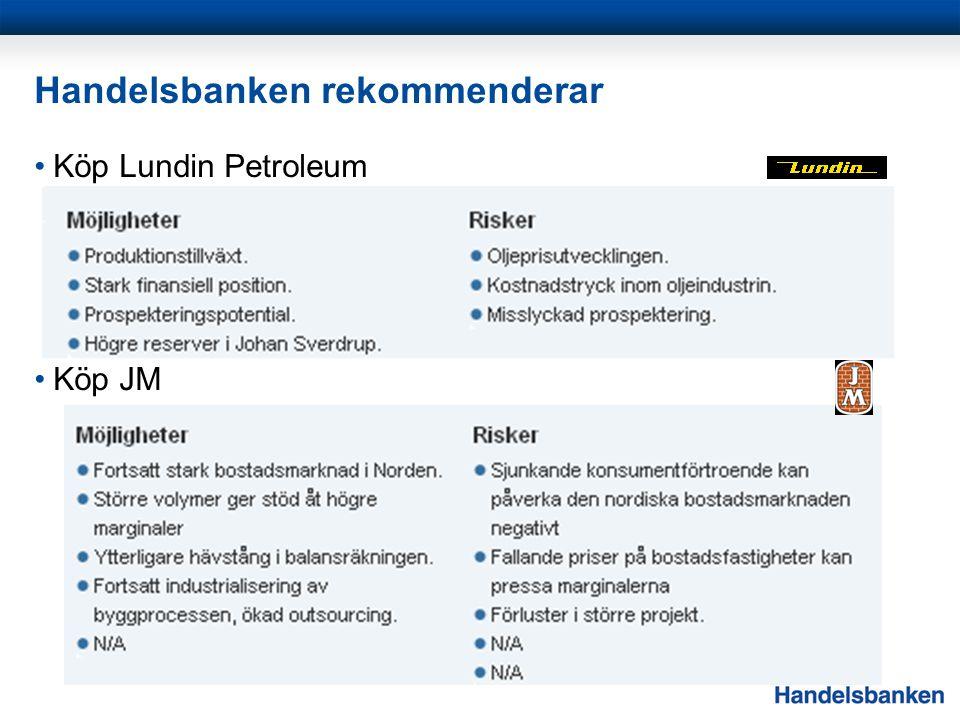 Handelsbanken rekommenderar