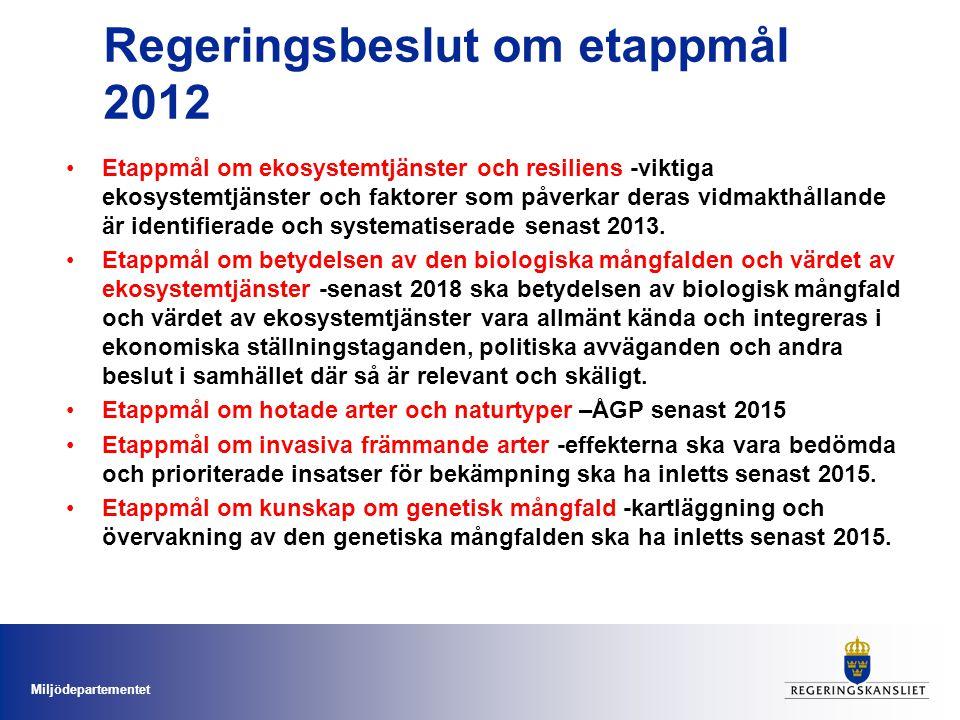 Regeringsbeslut om etappmål 2012
