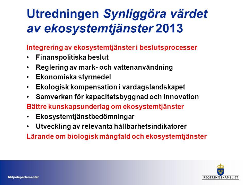 Utredningen Synliggöra värdet av ekosystemtjänster 2013