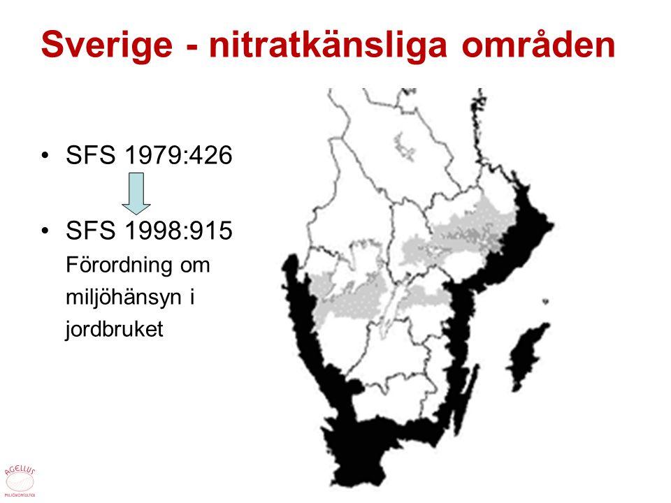 Sverige - nitratkänsliga områden