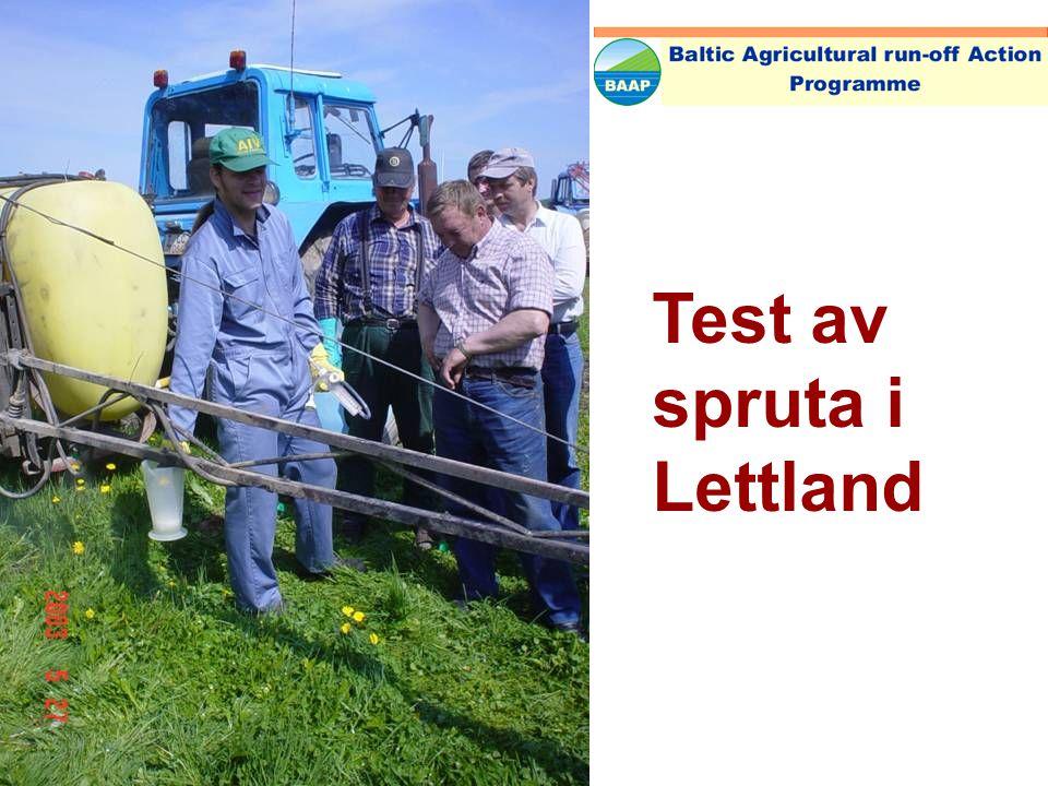 Test av spruta i Lettland