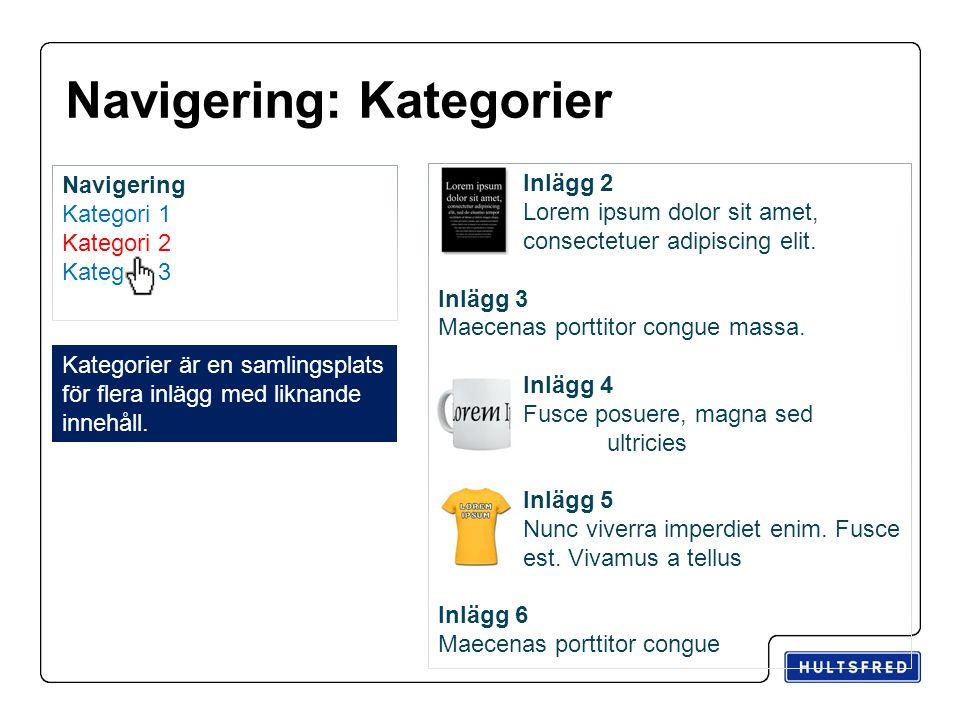 Navigering: Kategorier