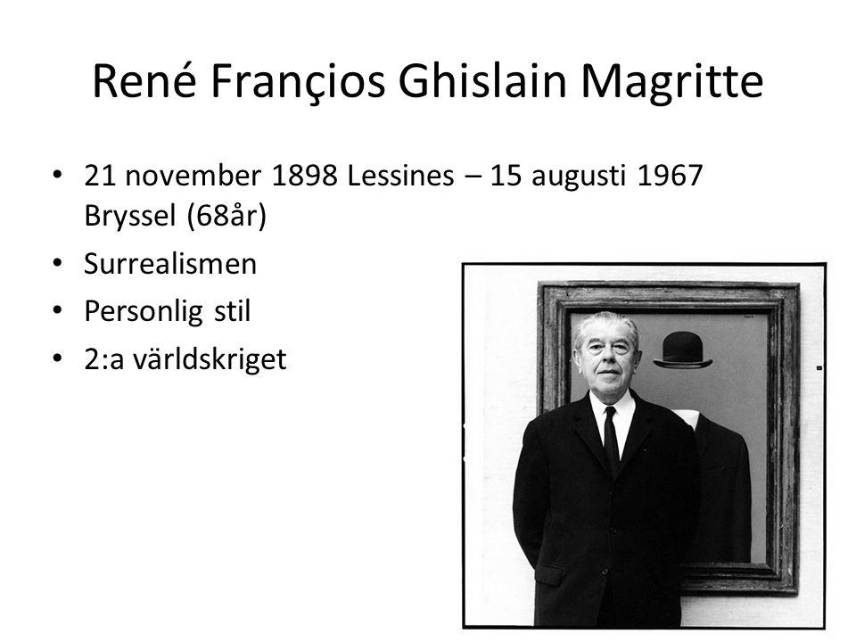 René Françios Ghislain Magritte