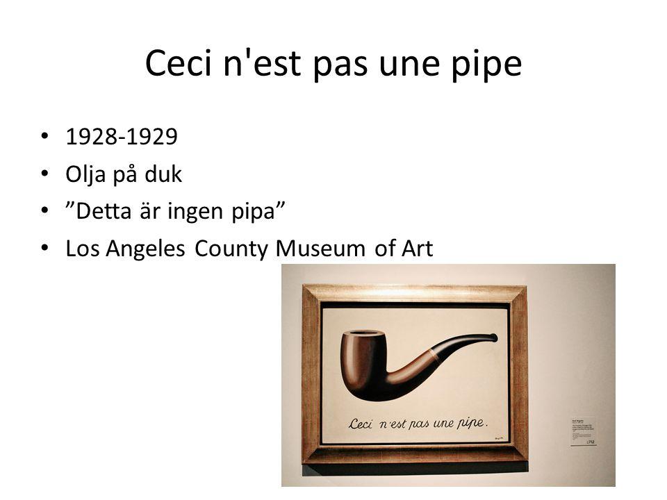 Ceci n est pas une pipe 1928-1929 Olja på duk Detta är ingen pipa