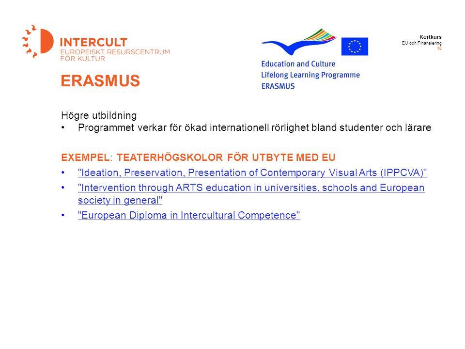 ERASMUS Högre utbildning