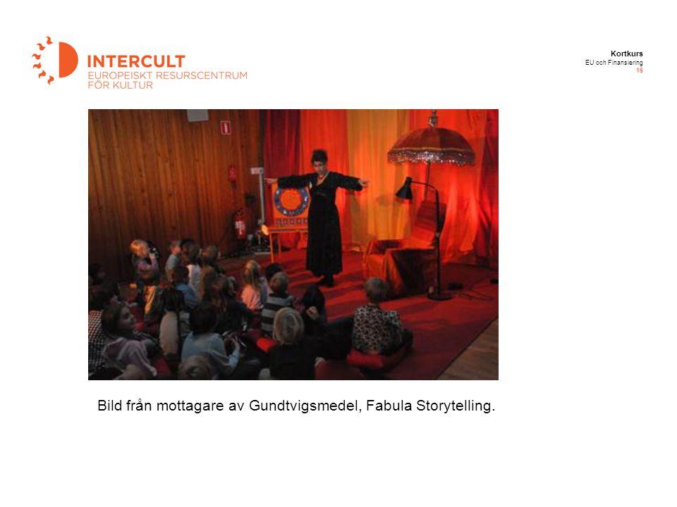 Bild från mottagare av Gundtvigsmedel, Fabula Storytelling.