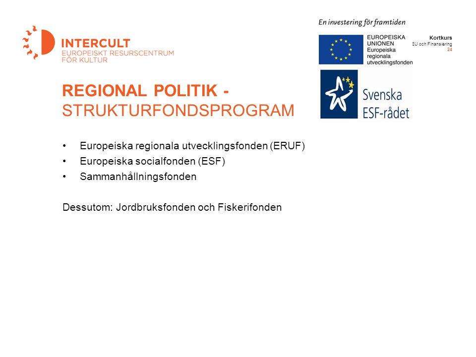 REGIONAL POLITIK - STRUKTURFONDSPROGRAM