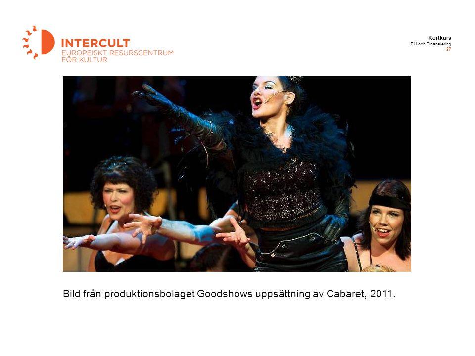 Bild från produktionsbolaget Goodshows uppsättning av Cabaret, 2011.