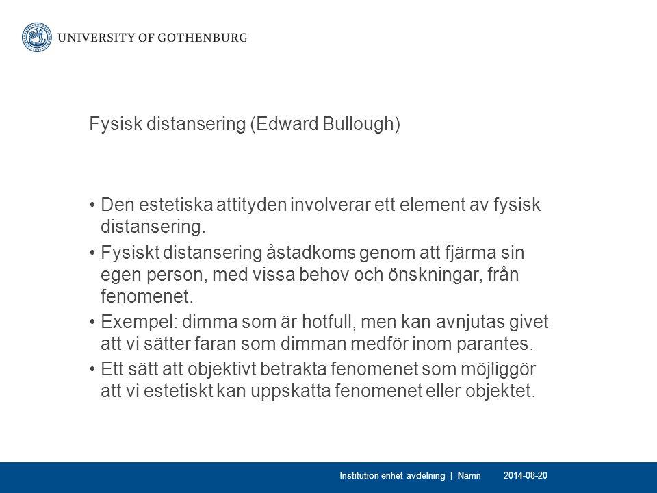 Fysisk distansering (Edward Bullough)