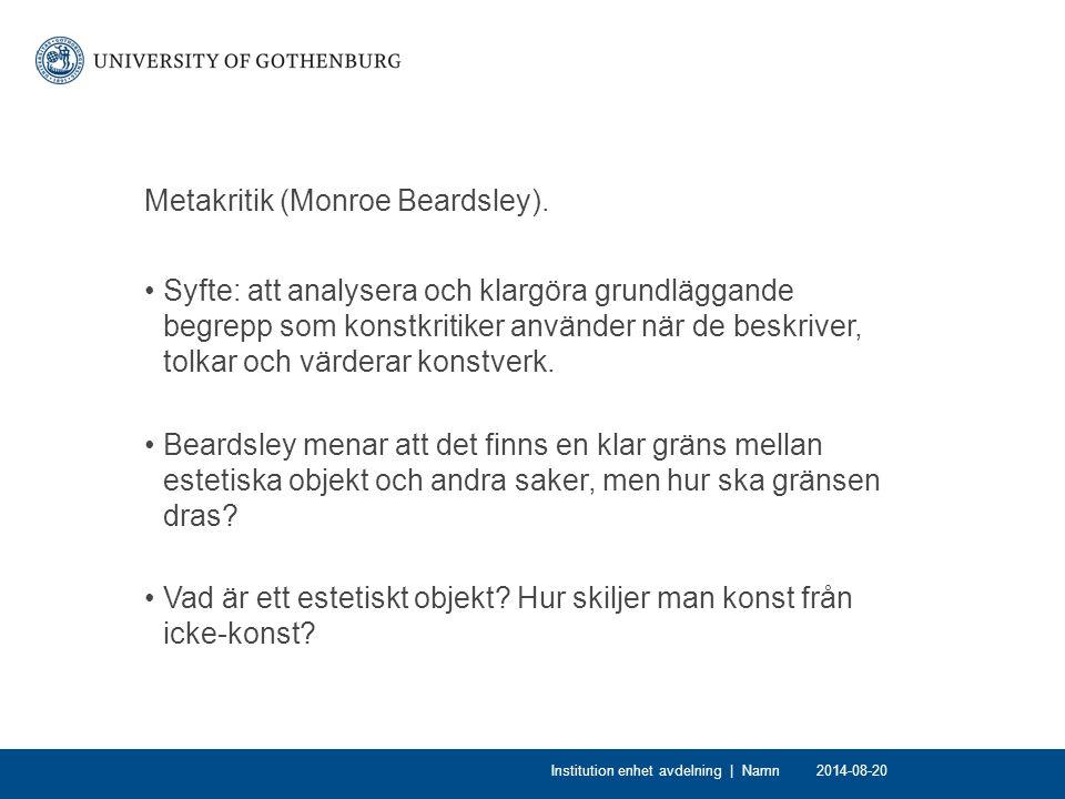 Metakritik (Monroe Beardsley).