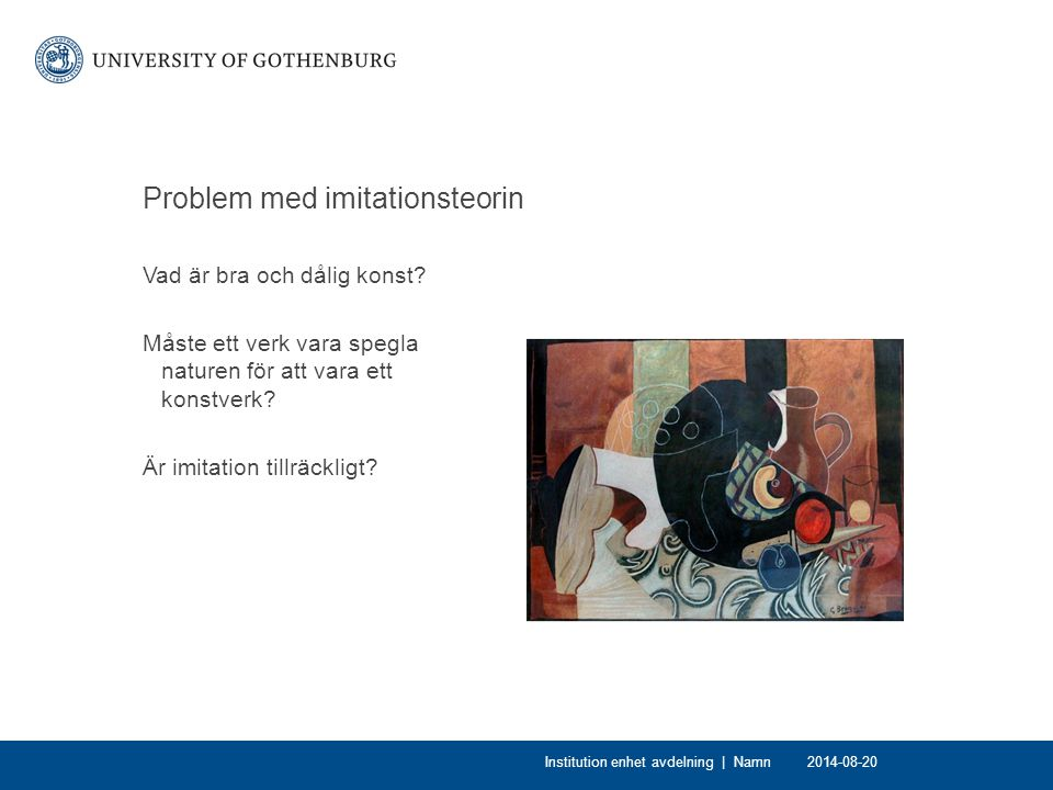 Problem med imitationsteorin