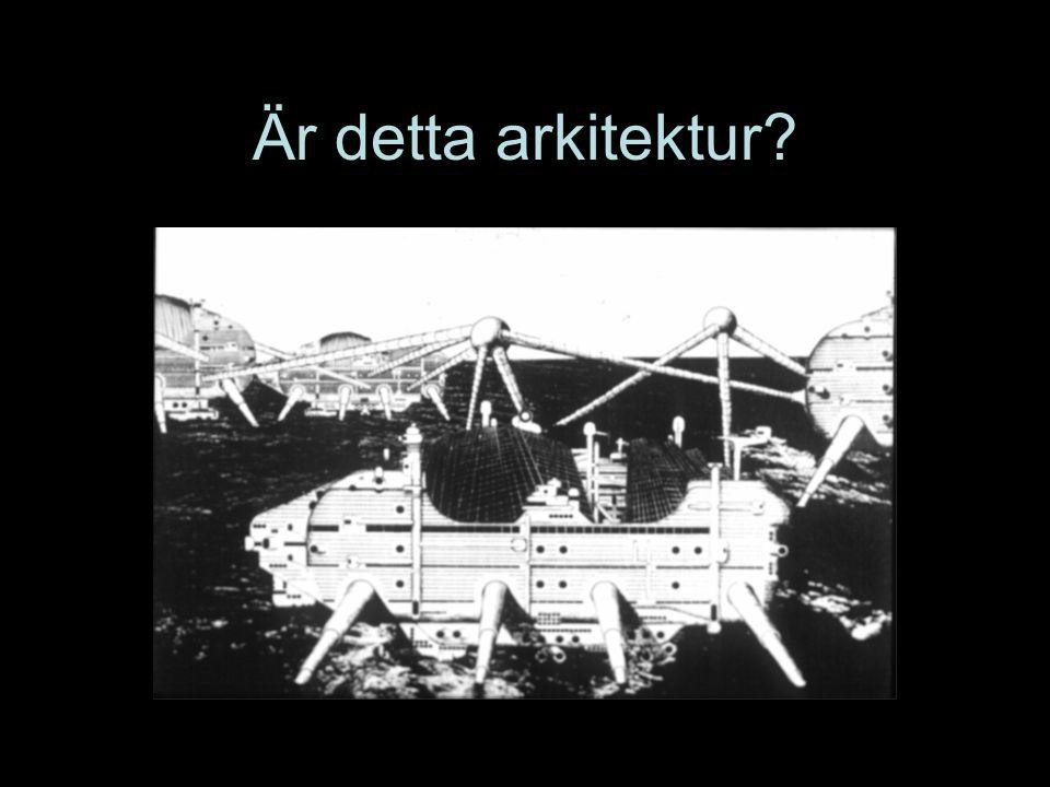 Är detta arkitektur