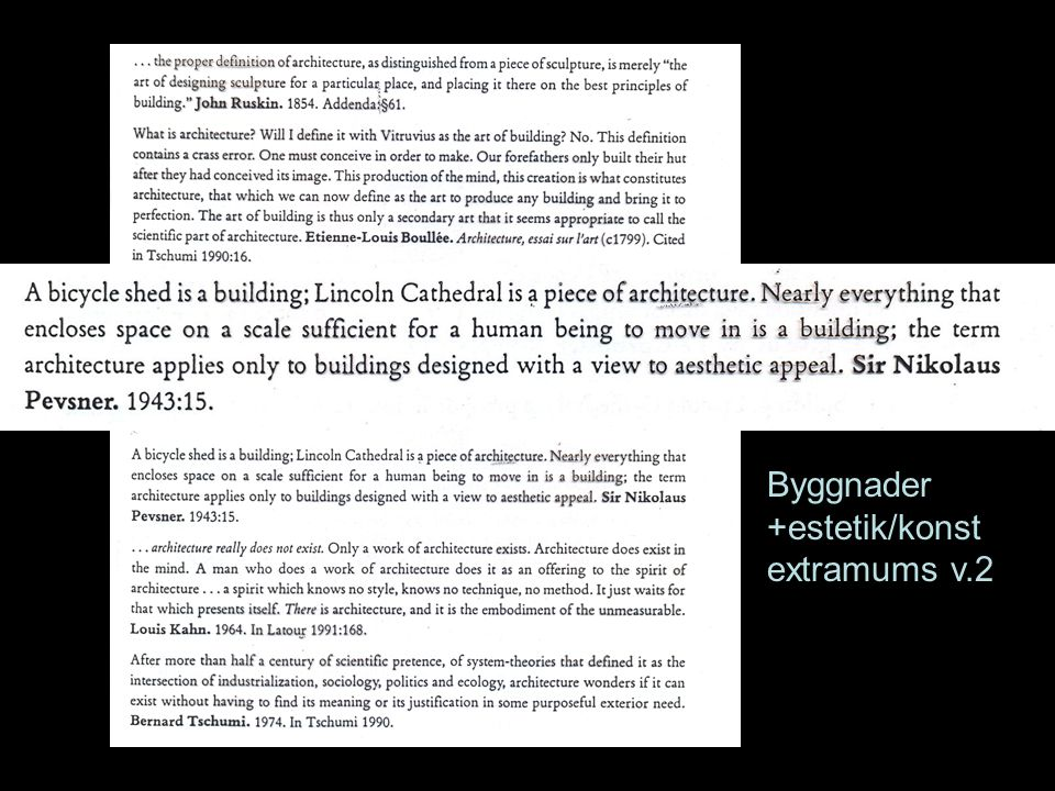 Byggnader +estetik/konst extramums v.2