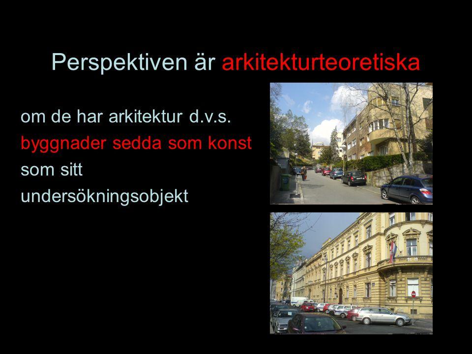 Perspektiven är arkitekturteoretiska