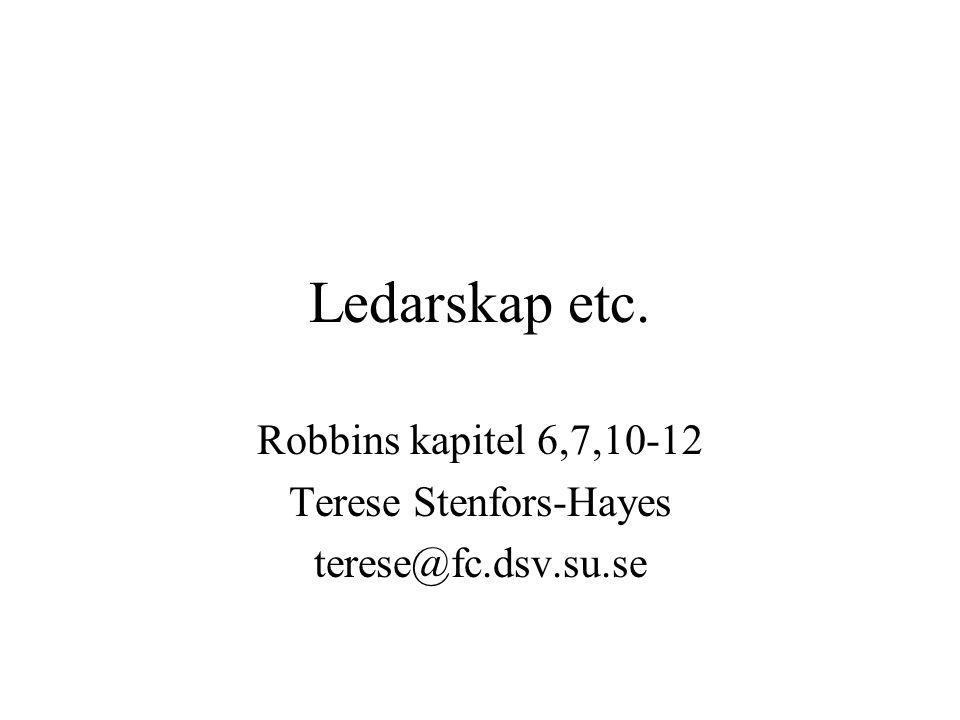Robbins kapitel 6,7,10-12 Terese Stenfors-Hayes terese@fc.dsv.su.se