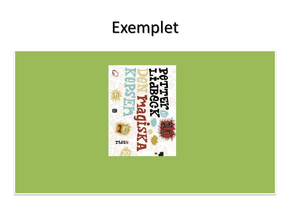 Exemplet Handling kort.
