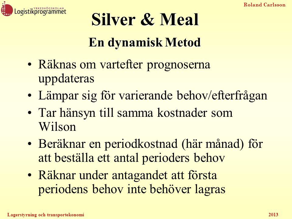 Silver & Meal En dynamisk Metod