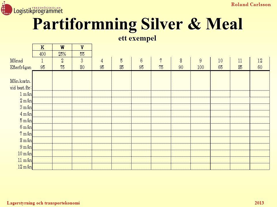 Partiformning Silver & Meal ett exempel