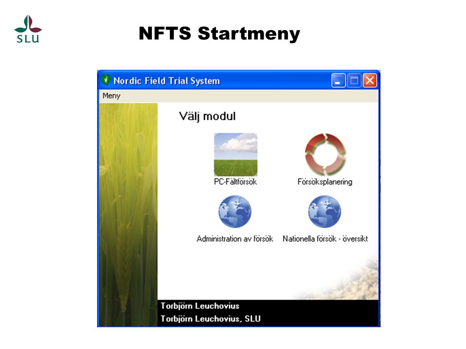 NFTS Startmeny