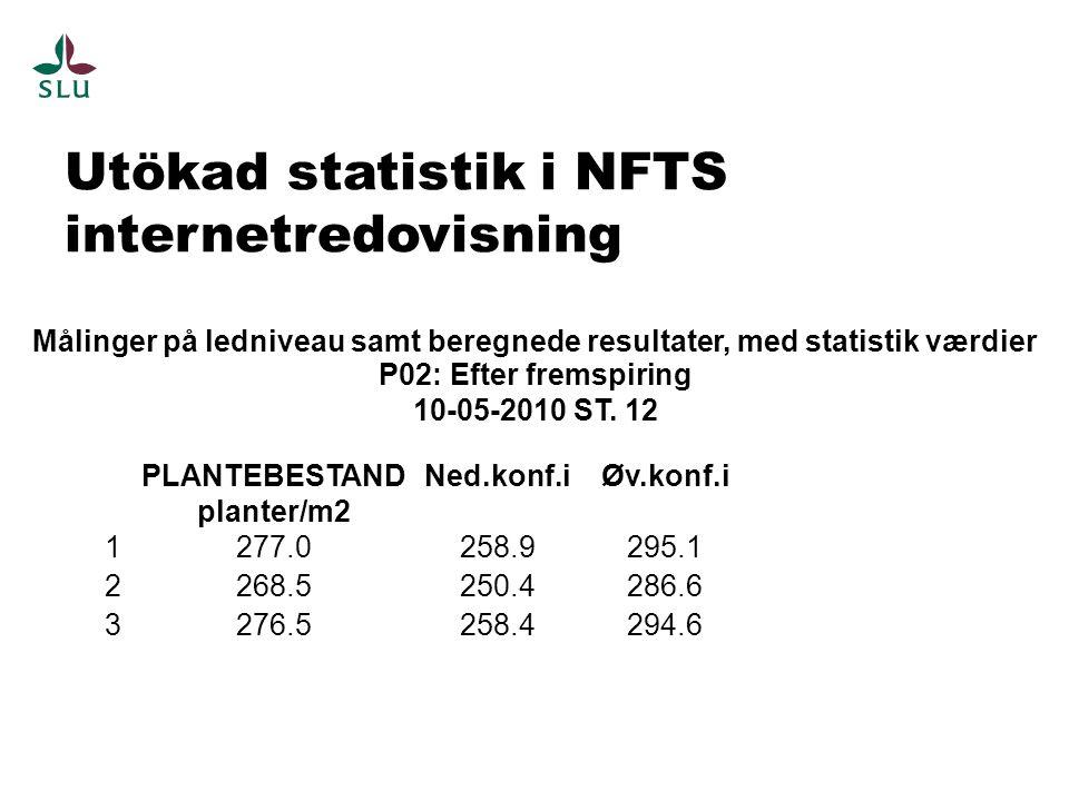 Utökad statistik i NFTS internetredovisning