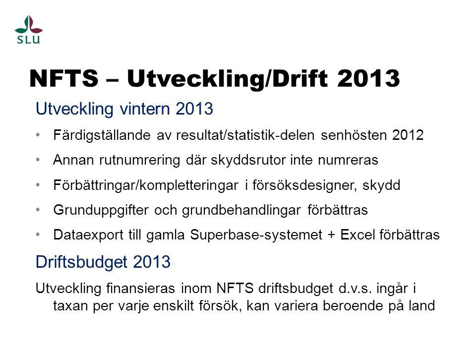 NFTS – Utveckling/Drift 2013