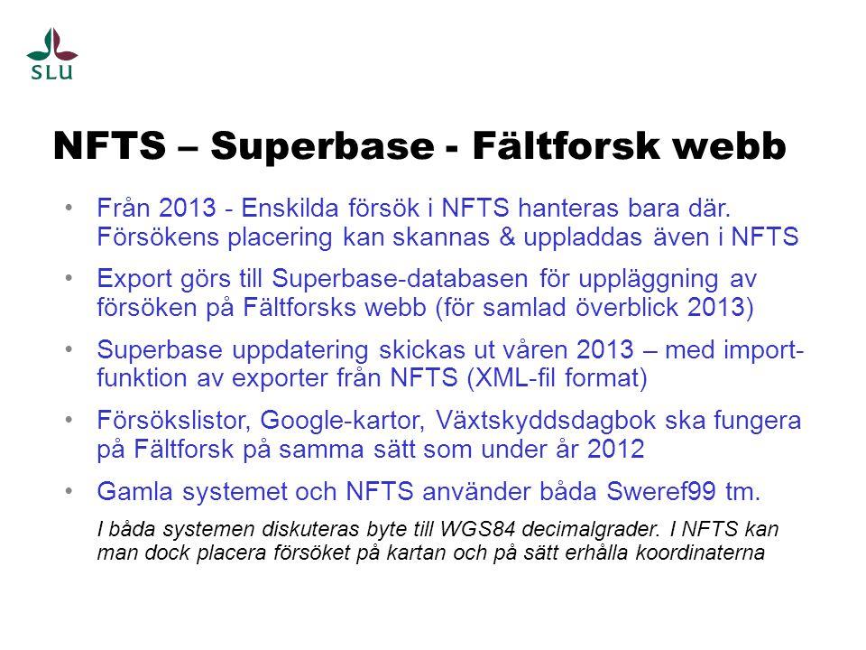 NFTS – Superbase - Fältforsk webb