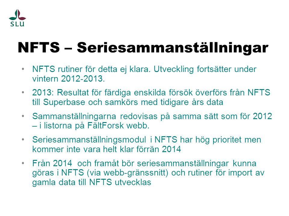 NFTS – Seriesammanställningar
