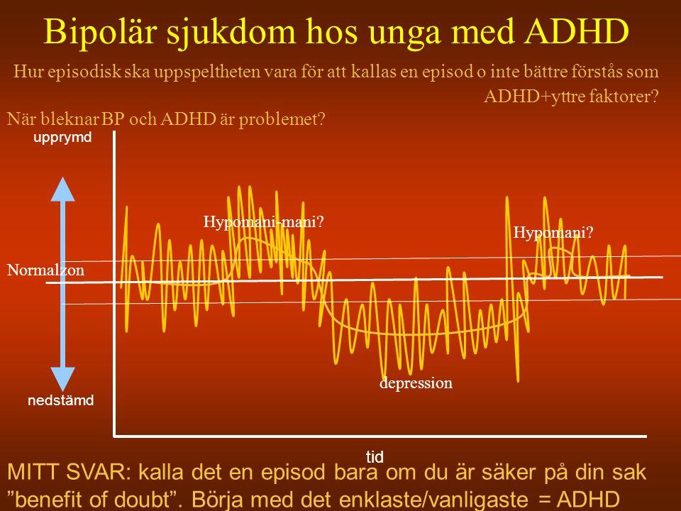 Bipolär sjukdom hos unga med ADHD