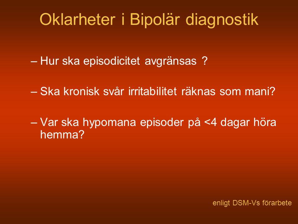 Oklarheter i Bipolär diagnostik