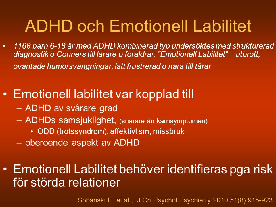 ADHD och Emotionell Labilitet