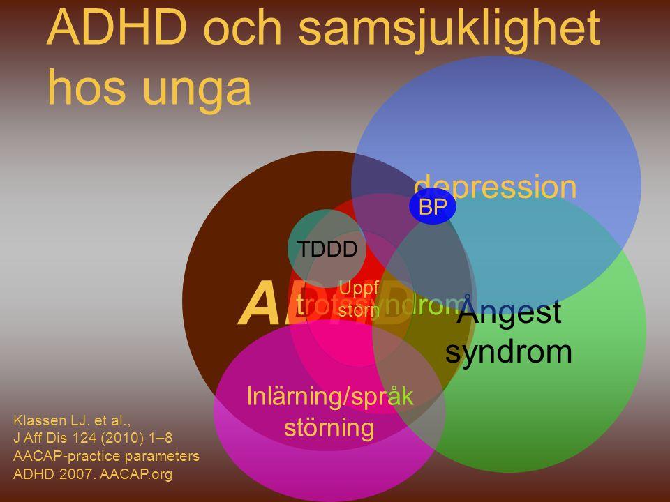 ADHD och samsjuklighet hos unga