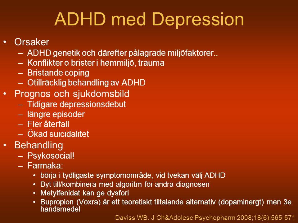 ADHD med Depression Orsaker Prognos och sjukdomsbild Behandling