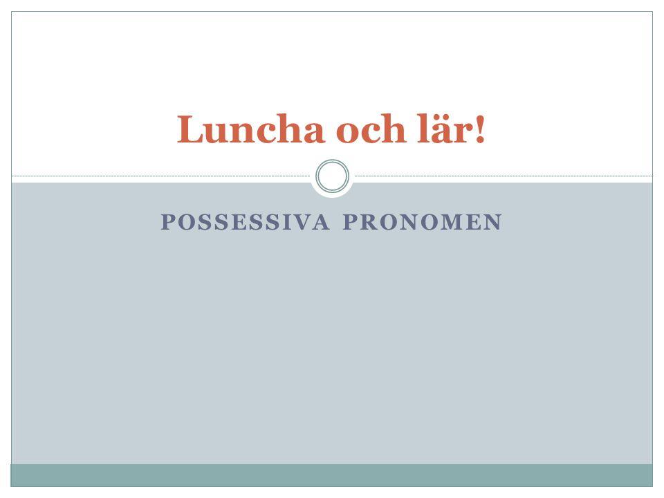 Luncha och lär! Possessiva pronomen