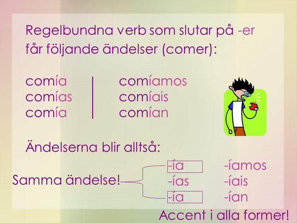 Regelbundna verb som slutar på -er