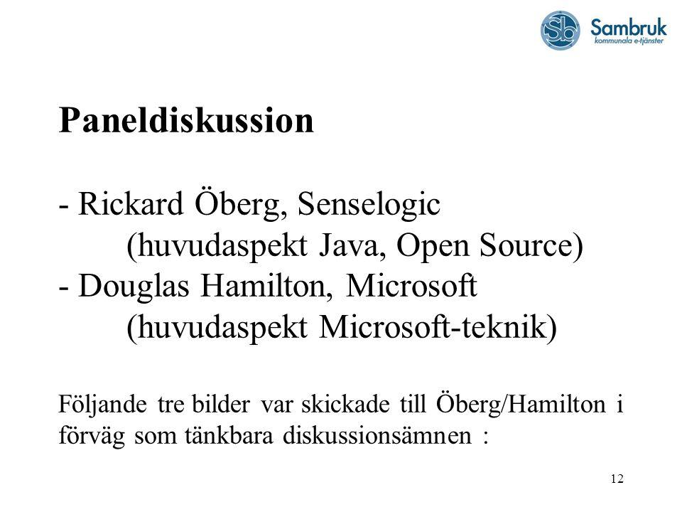 Paneldiskussion - Rickard Öberg, Senselogic