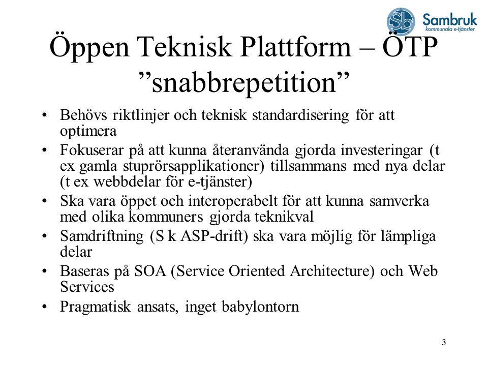 Öppen Teknisk Plattform – ÖTP snabbrepetition