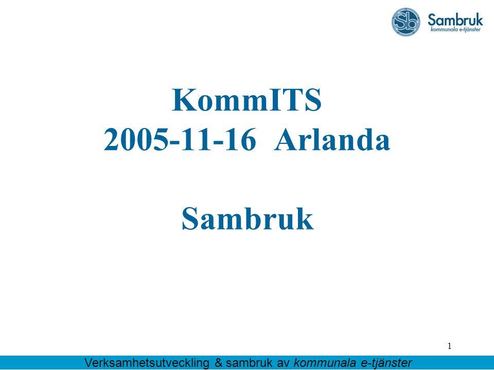 KommITS 2005-11-16 Arlanda Sambruk