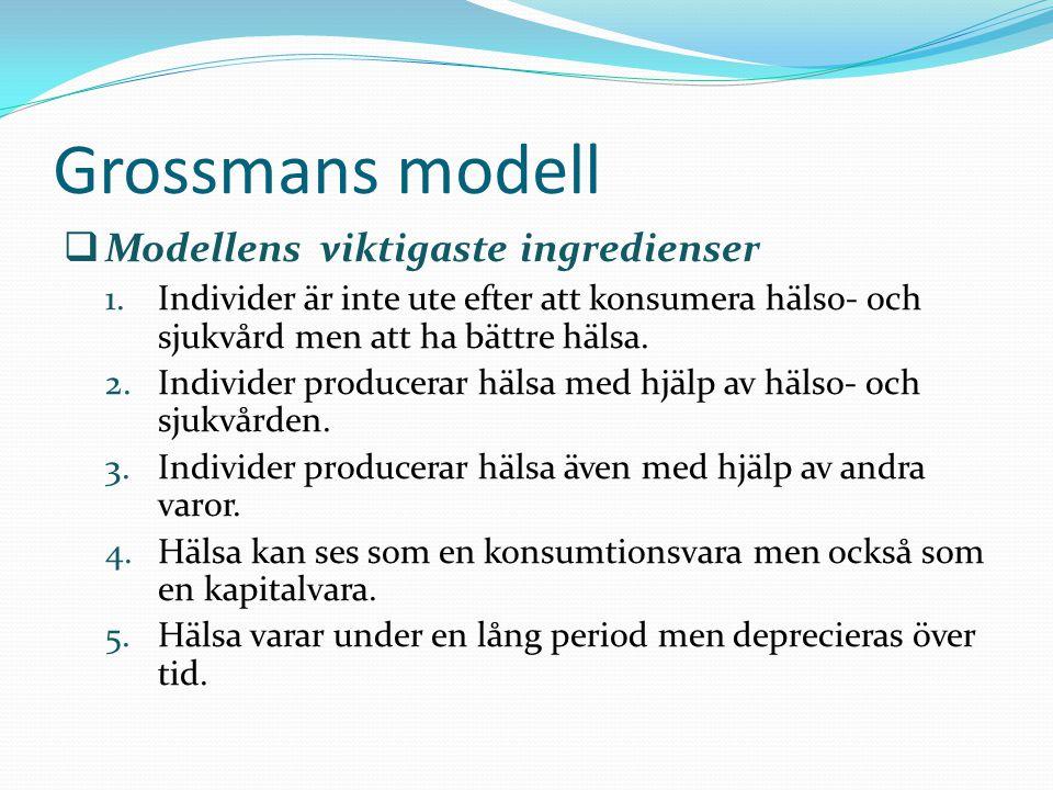 Grossmans modell Modellens viktigaste ingredienser