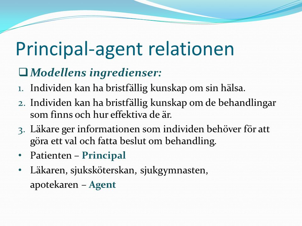 Principal-agent relationen