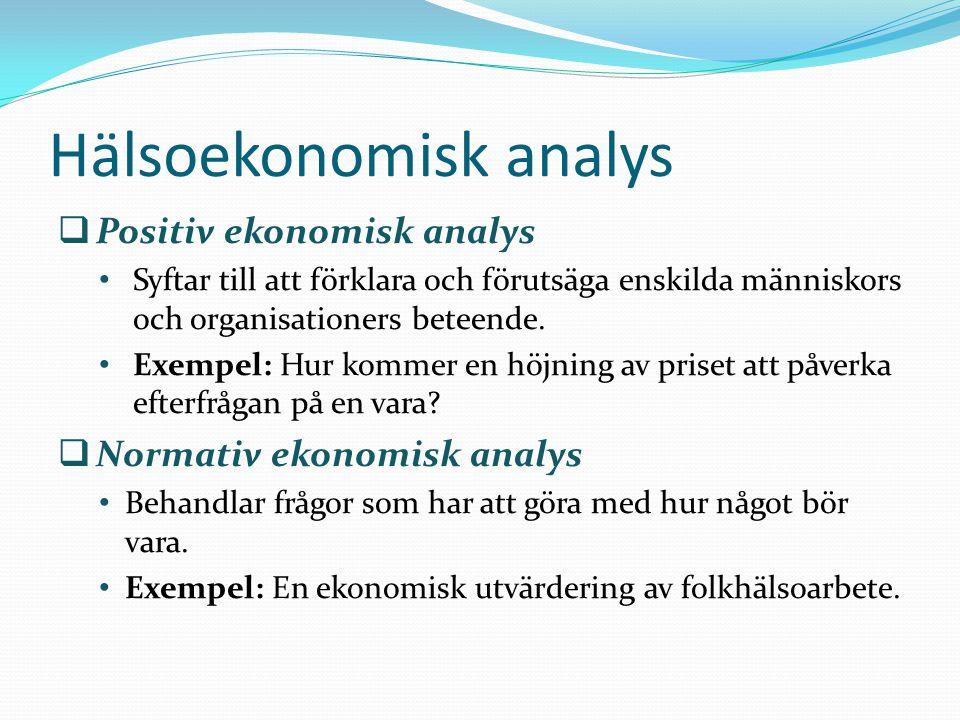 Hälsoekonomisk analys