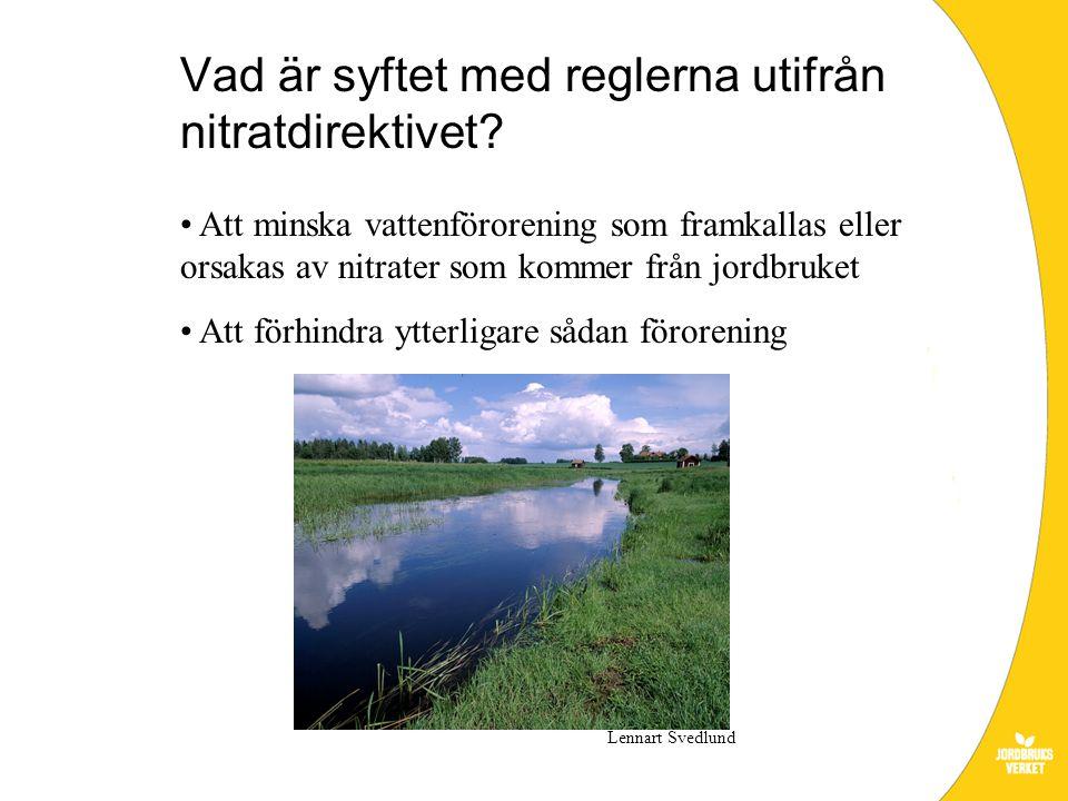 Vad är syftet med reglerna utifrån nitratdirektivet