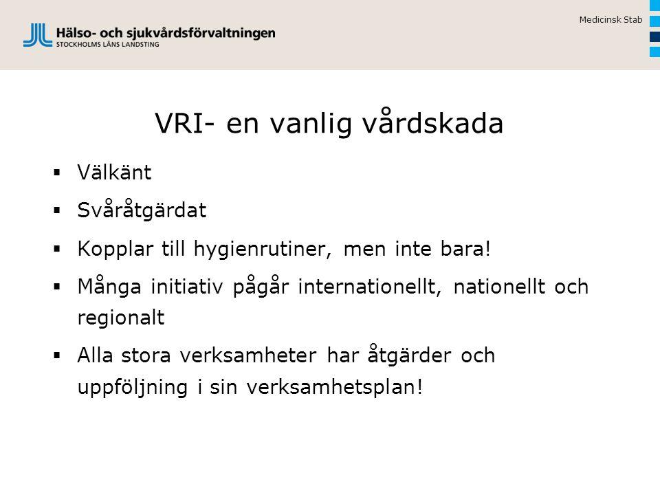VRI- en vanlig vårdskada