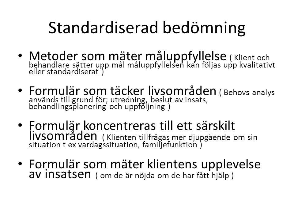 Standardiserad bedömning