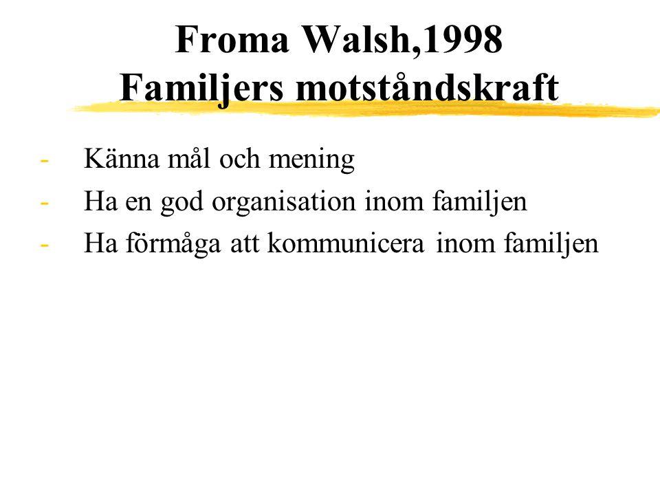 Froma Walsh,1998 Familjers motståndskraft