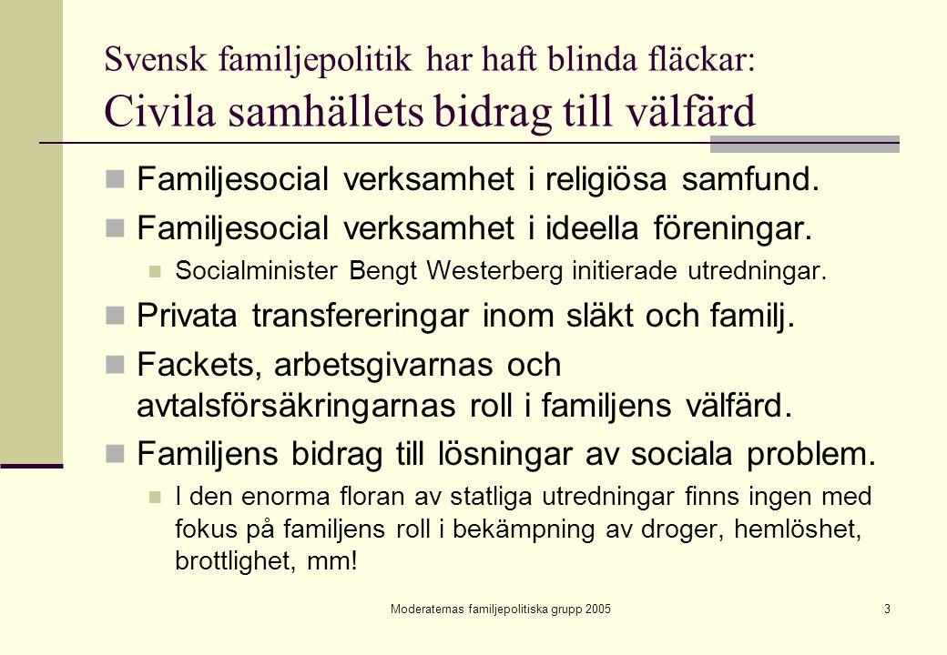 Moderaternas familjepolitiska grupp 2005