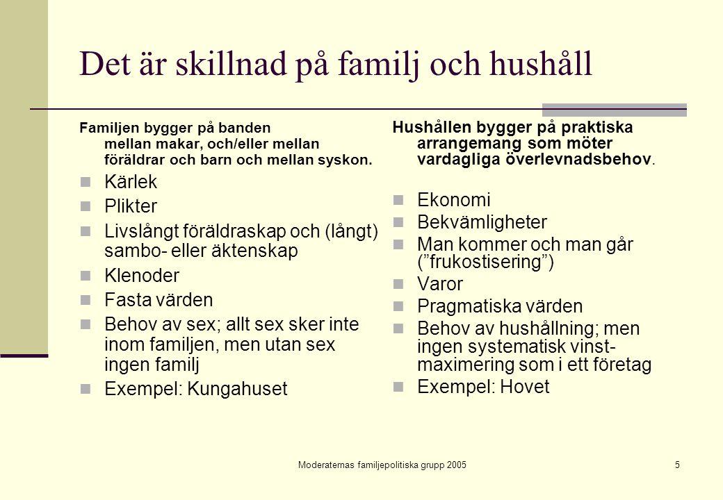 Det är skillnad på familj och hushåll
