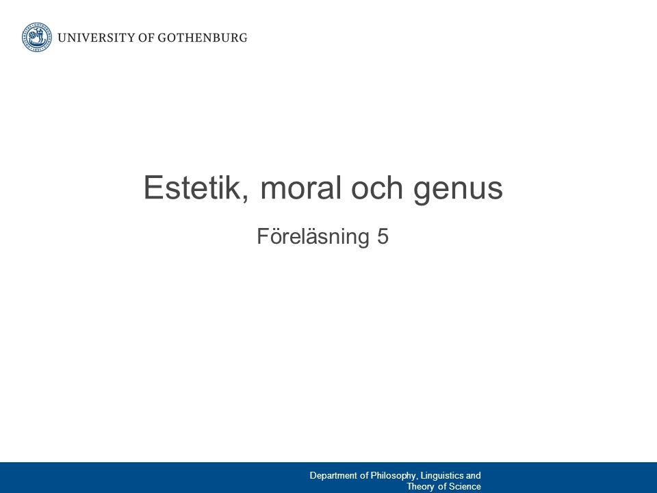 Estetik, moral och genus