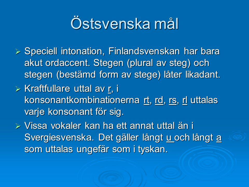 Östsvenska mål