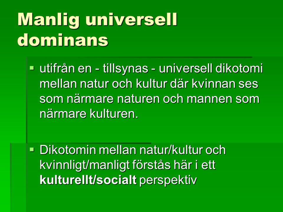 Manlig universell dominans