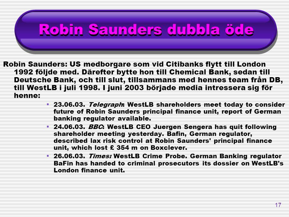 Robin Saunders dubbla öde